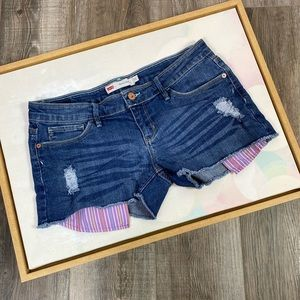 Levis 11 shorty distressed cut off jean shorts